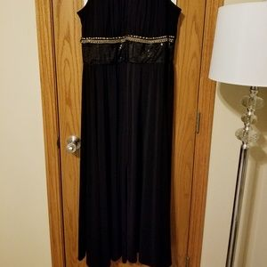 Elegant plus size wedding formal black long dress